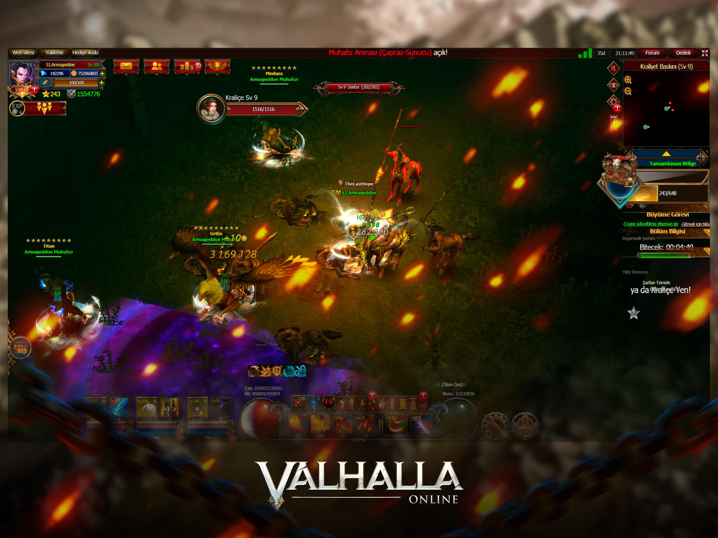 Valhalla Online Oyun Görüntüsü