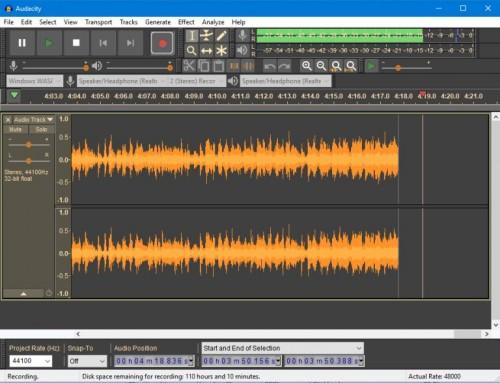 Audacity Ücretsiz Ses Düzenleyici